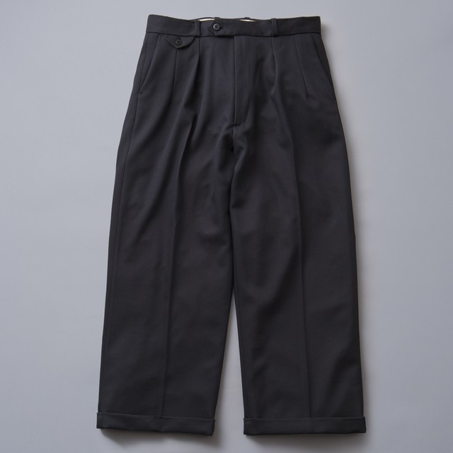 """[SOLARIS&CO.] 2tuck Straight Trousers """"JERSY"""""""