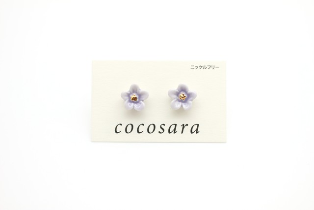 有田焼ピアス flower 19
