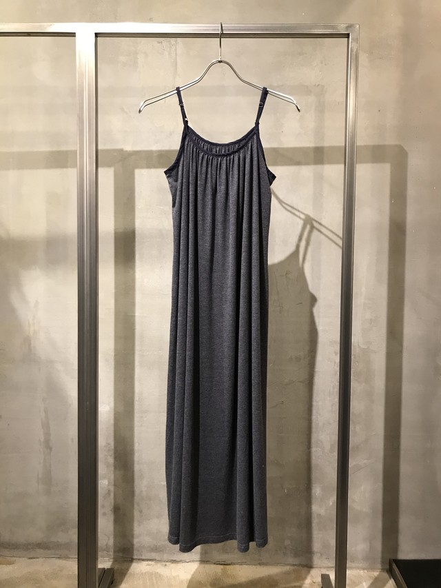 pre-fix jersey camisole dress - midnight garment dyed effect