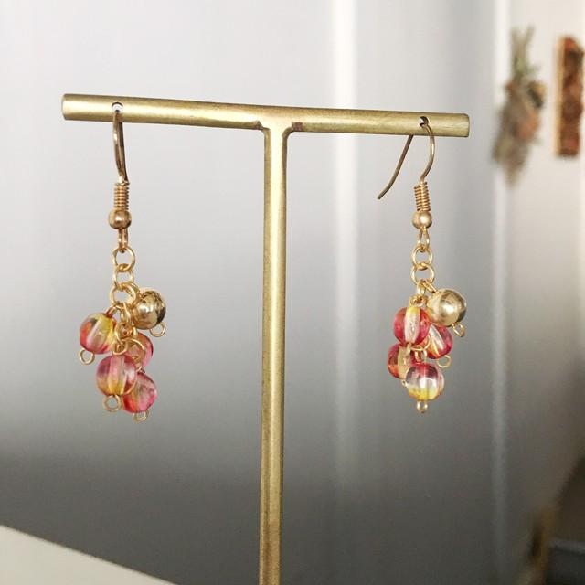 Red Czech beads earrings