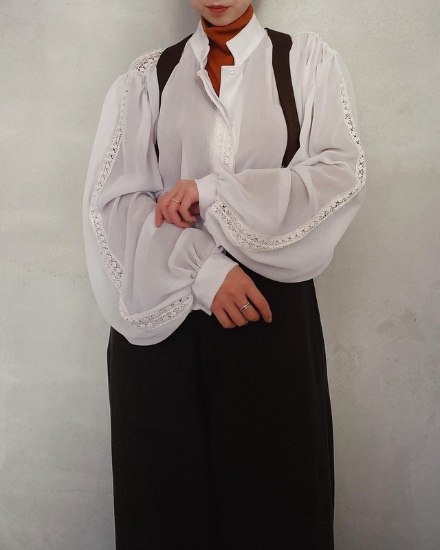vintage puff sleeve blouse made in U.S.A