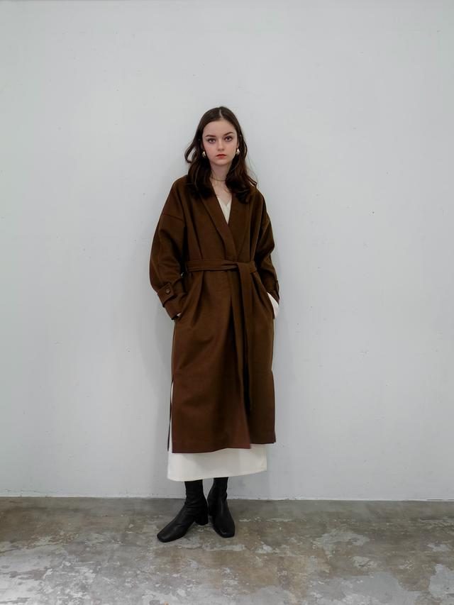 wool gown coat(brown)