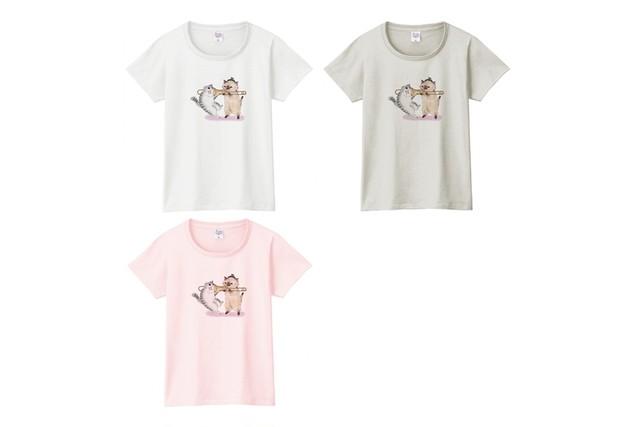 トロンボーン猫のTシャツ(吸引)