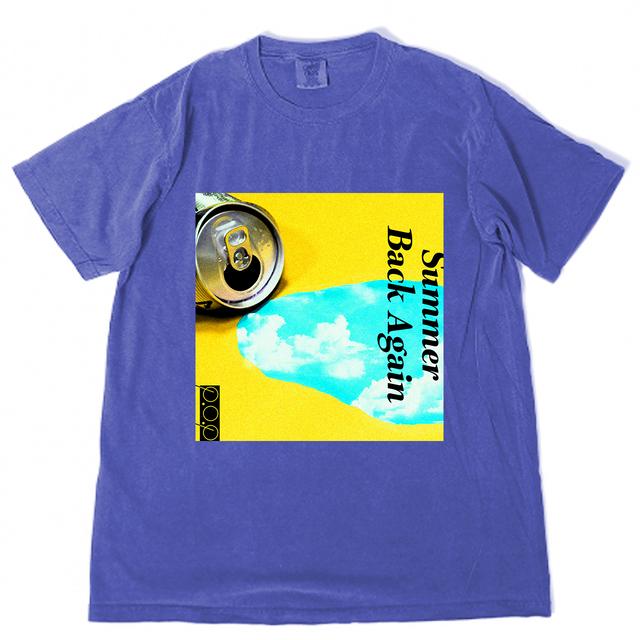 SUMMER BACK AGAIN Tシャツ ブルー - メイン画像