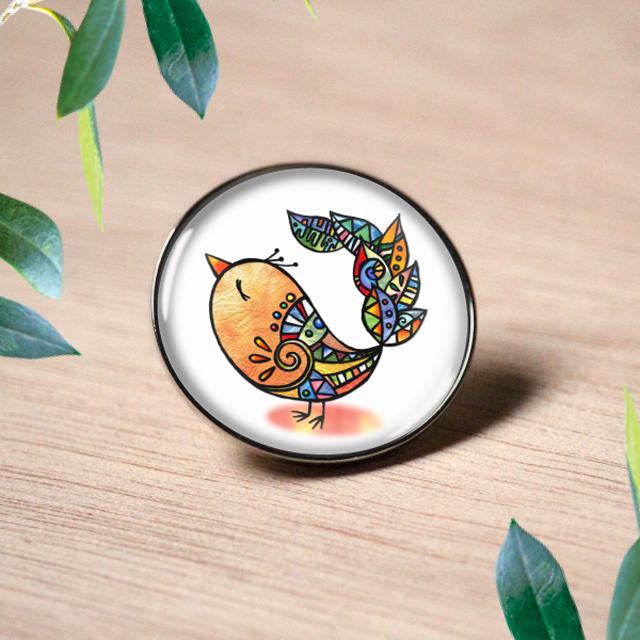 ピンバッチ :  羽尾の鳥