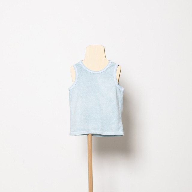 folk made  peacedye tank top (sax blue) M・Lサイズ F21SS-027 ※メール便1点までOK