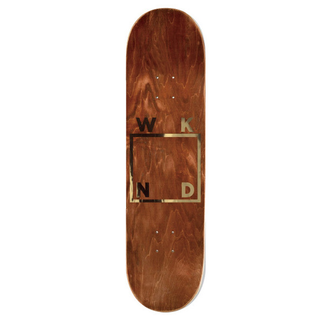 WKND SKATEBOARDS TEAM GOLD LOGO DECK 8.5