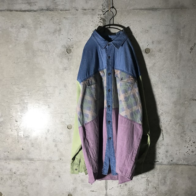 [used] three colour switching shirt