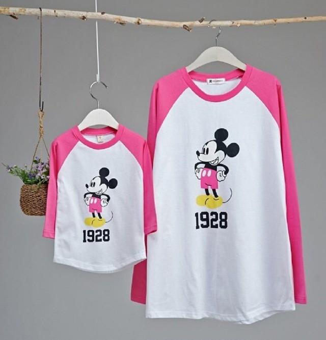 ラグランtシャツ 韓国子供服 男の子t 女の子t 可愛いイラストtシャツ