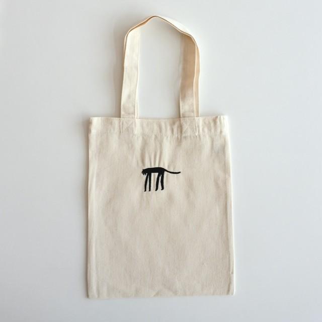 長沢明 刺繍ミニトート(キナリ) トラ