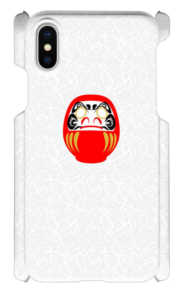 iPhoneX 印刷ケース だるま お祝い 日本 ジャパン 和柄 和風 オリジナルケース iphone 画像印刷 カバー japan