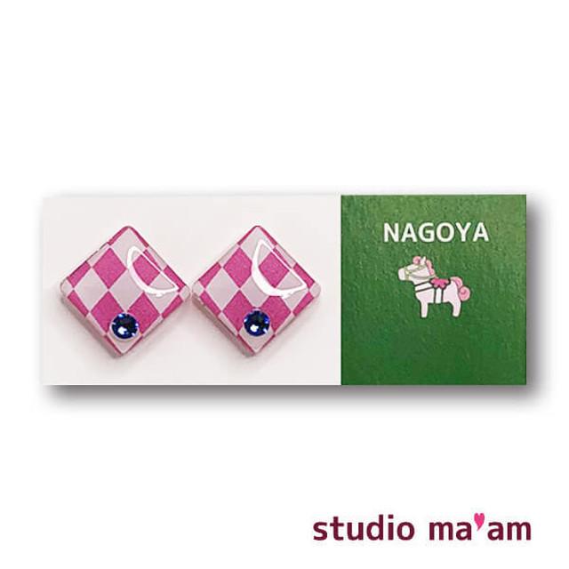 ■NAGOYA-07  ピアス。しかく。〜イヤリング変更可〜