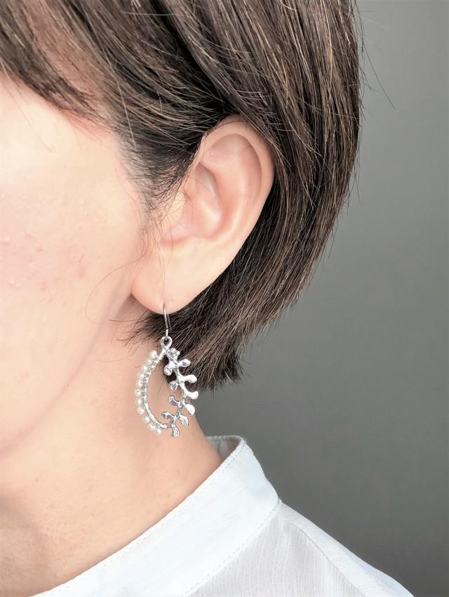 leaf pierce / earring  001