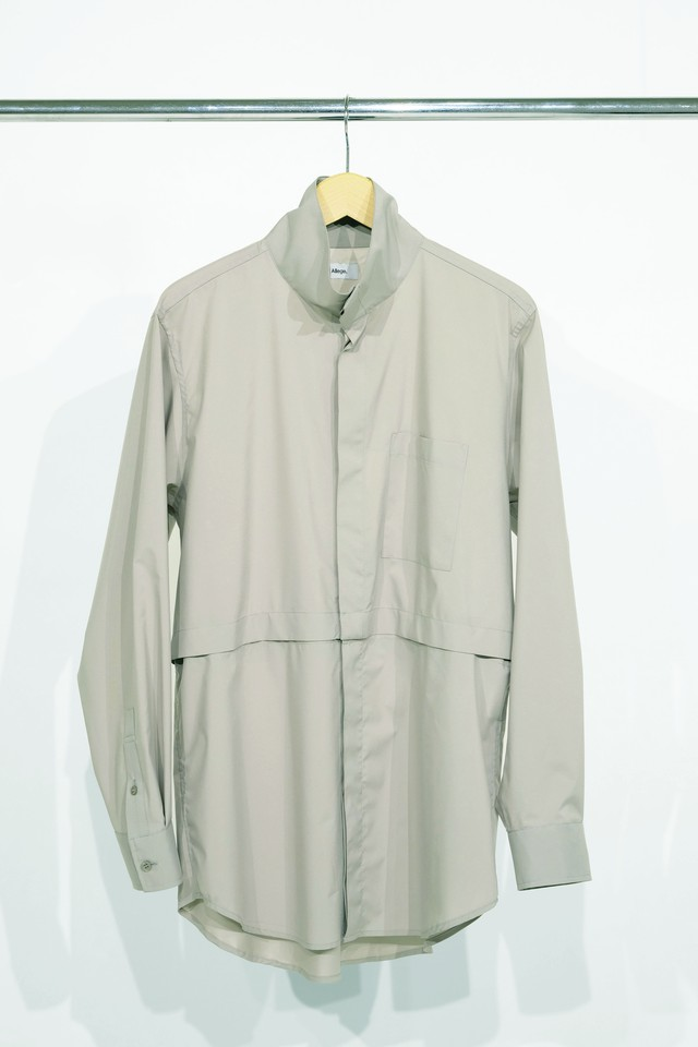 Allege Polyester High Neck Shirt Grey AL20S-SH03