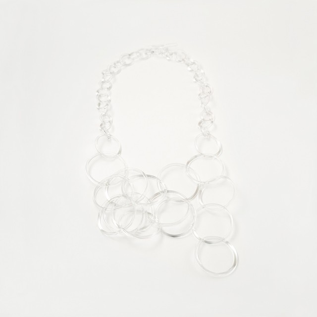 _cthruit シースルーイット ripple necklace ネックレス 【Clear】