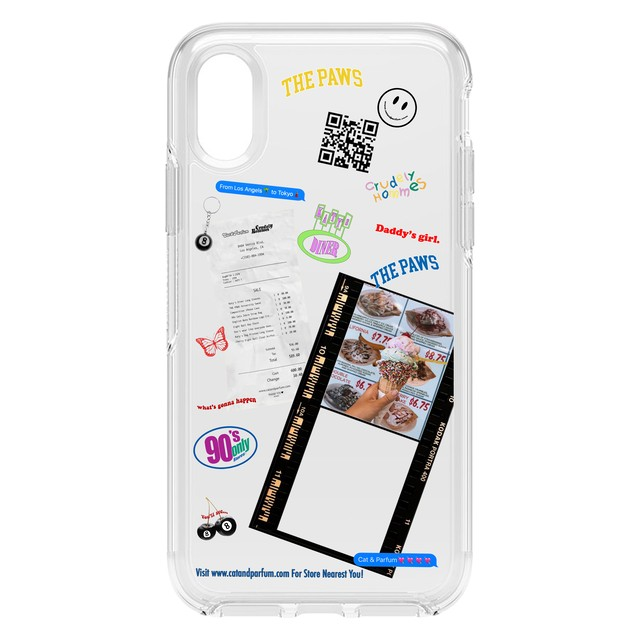 【Cat & Parfum / Crudely Hommes】Limited Collage Clear iPhone Case
