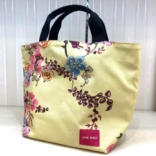 北欧デザイン リバーシブルトートバッグ | yellow flower