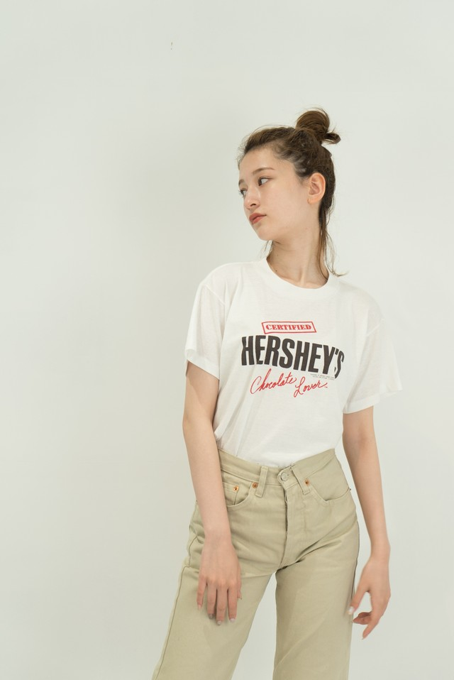 ◼︎80s vintage HERSHEY'S Chocolate Lover T-shirts from U.S.A.◼︎