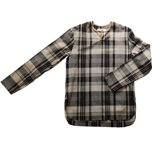 RICEMAN (ライスマン) PULLOVER SHIRT コットンリネンプルオーバーシャツ