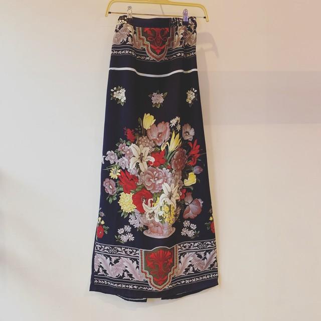 70s vintage china design skirt