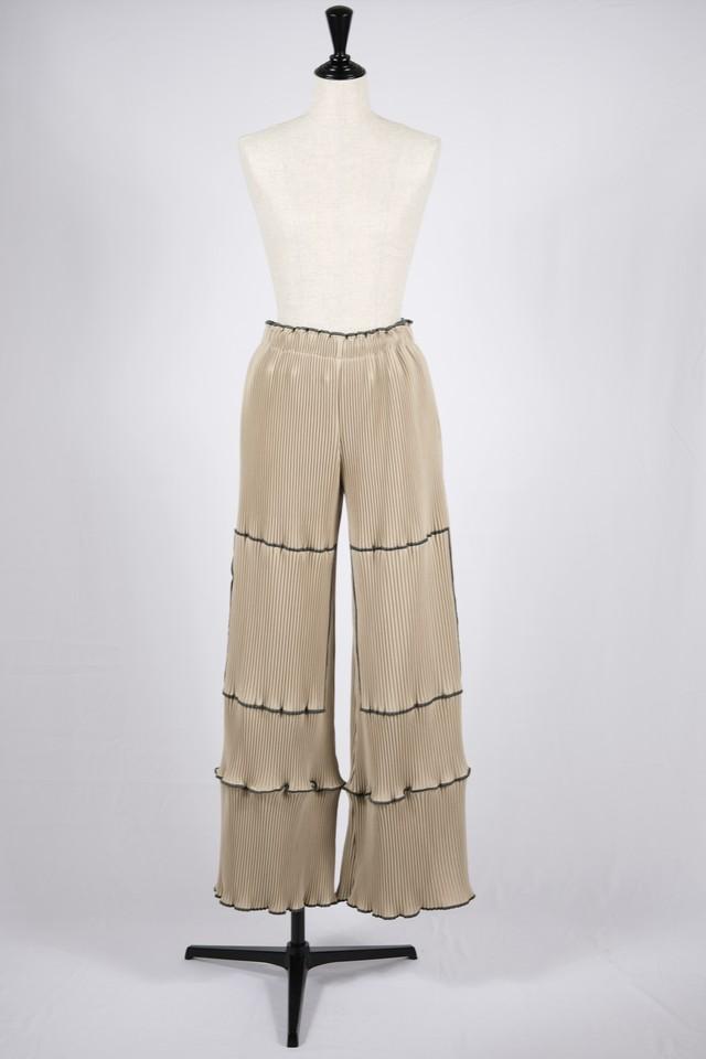 【kotohayokozawa】pleats pants-beige