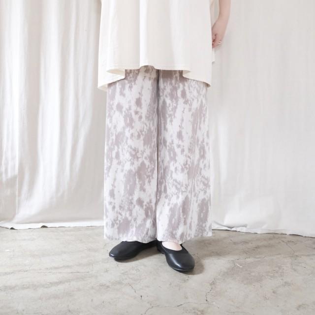 タイダイ柄プリーツパンツ
