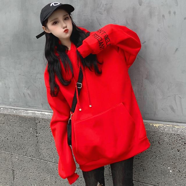 【トップス】今季も大流行アルファベット韓国系フード付き長袖パーカー24513547