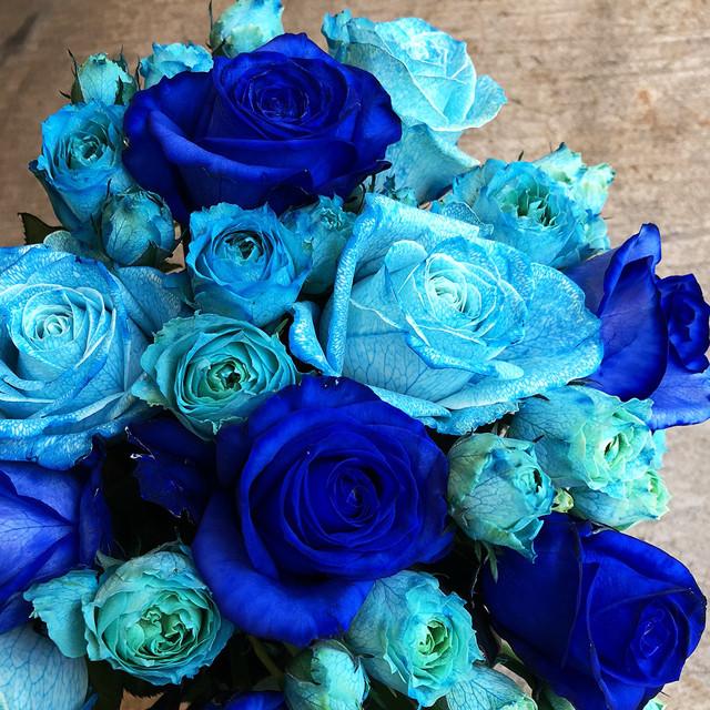 【青いバラの花束】ブルーローズブーケギフト Lサイズ(到着指定日5日前受付)