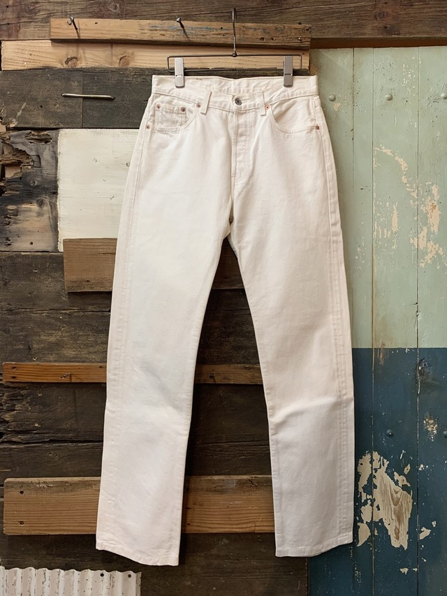 Levi's 501 white made in france