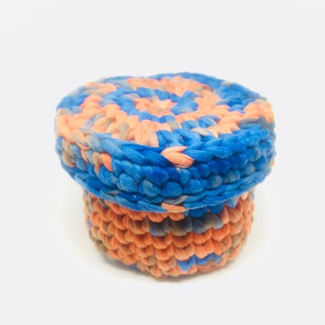 orange&blue 小物入れ