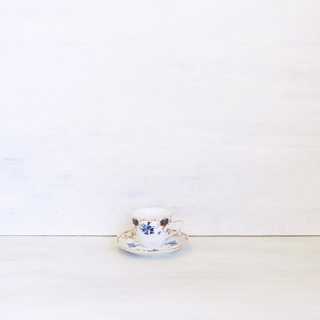【R-501】ジョバンニバレンチノ 青い花カップ&ソーサー