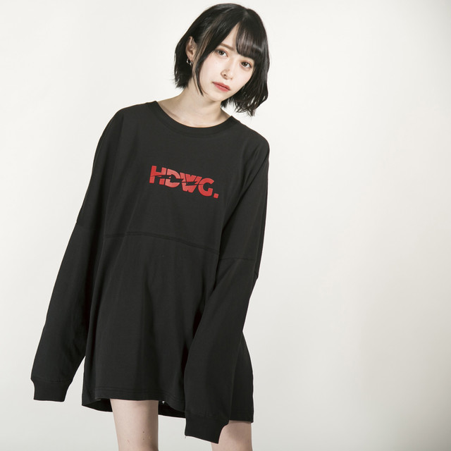 """Kaminari"" Long Sleeve T-shirt Black"