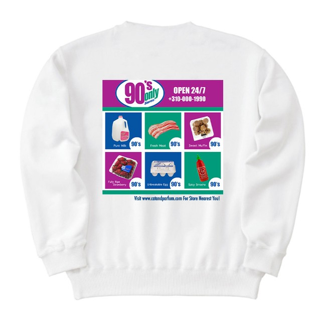 【Cat & Parfum】90's Only Store Graphic Heavy Cotton Sweat