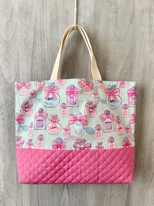 【30✕42cm】レッスンバック バービー柄 ブルー&ピンク