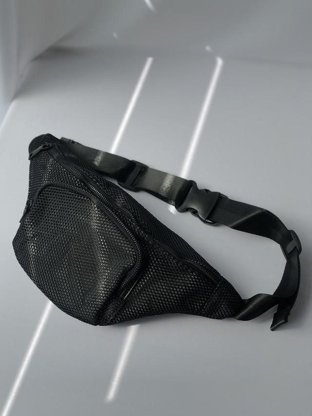 【即日出荷】メッシュウエストバッグ ミニバッグ 鞄 メンズ ユニセックス レディース
