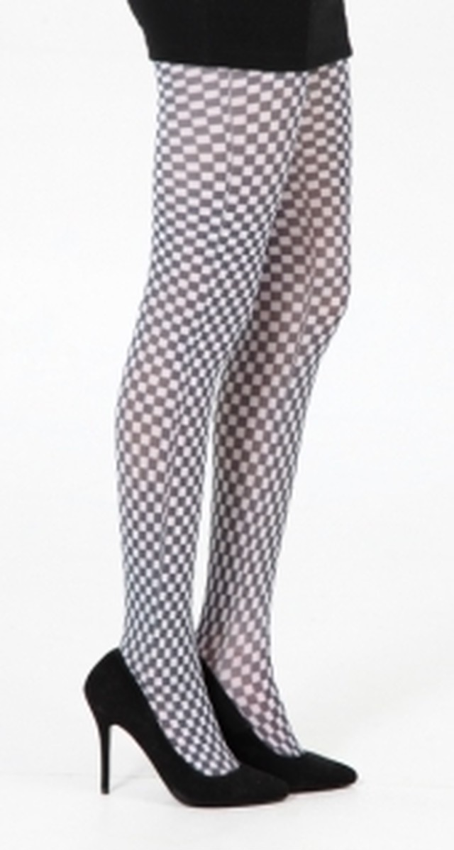 英国PAMELA MANN Checkerboard Printed Tights