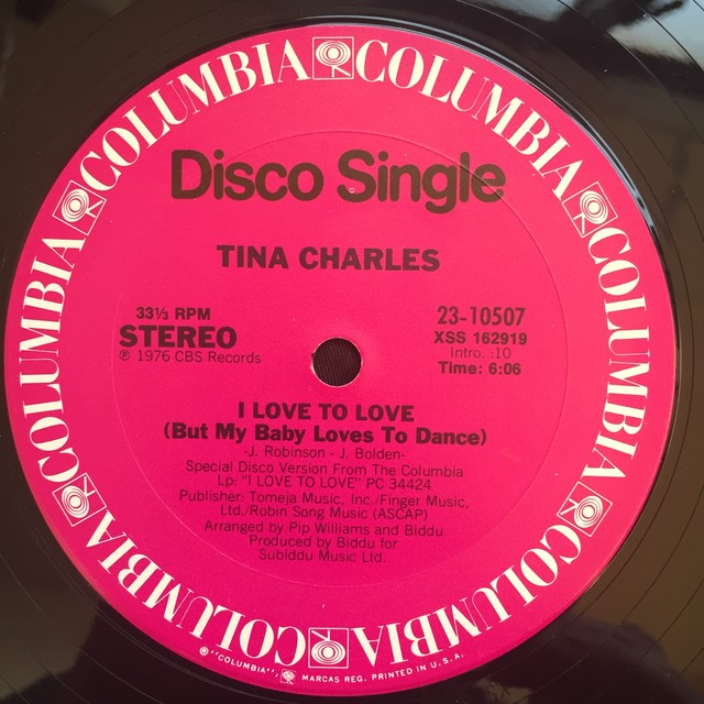 Tina Charles ‎– I Love To Love (But My Baby Loves To Dance)