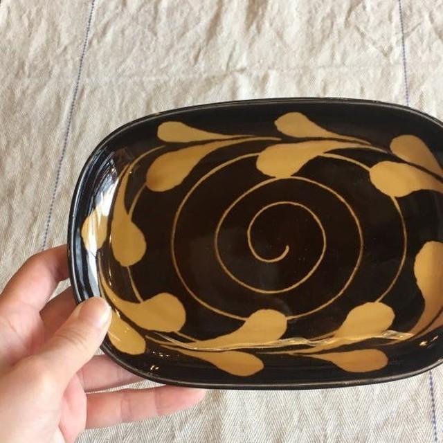 美濃焼 長角小皿 リーフ