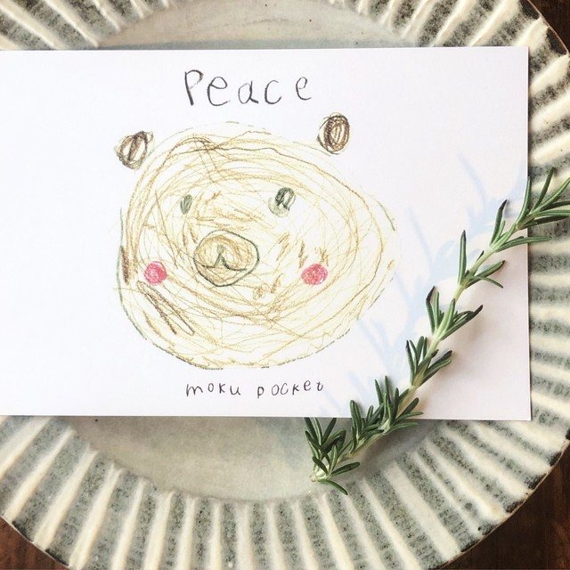 moku pocket card 〝peace〟