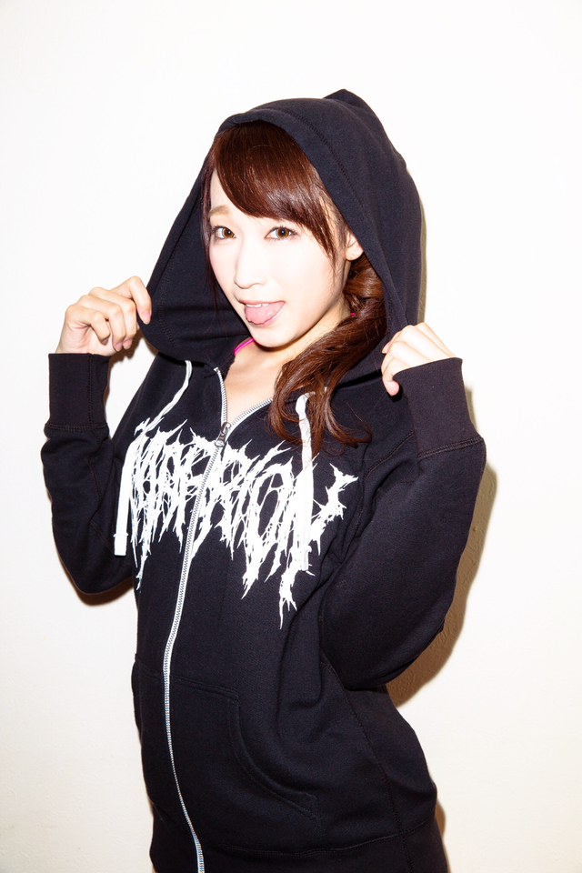 KILLER MARRION-LOGO~Zip-Up Hoodie(Black×White)