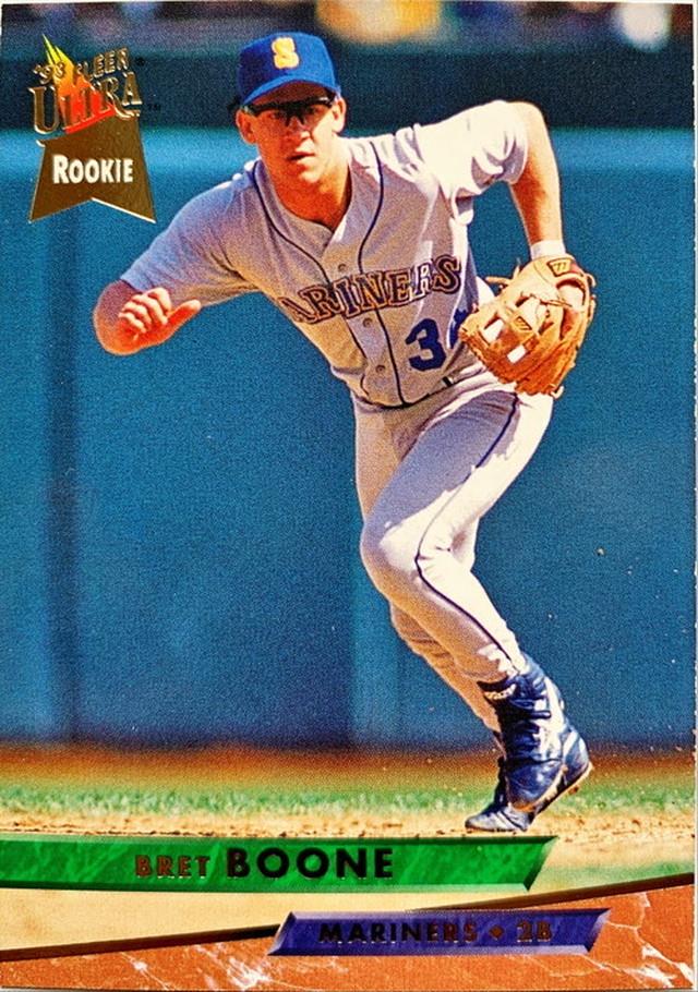 MLBカード 93FLEER Bret Boone #266 MARINERS ルーキーカード