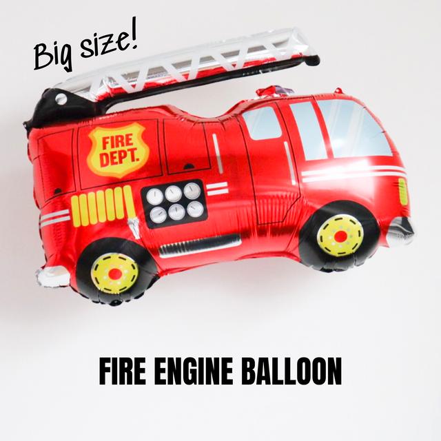 【送料無料】消防車 アルミバルーン バースデーデコレーション 誕生日飾り付 男の子