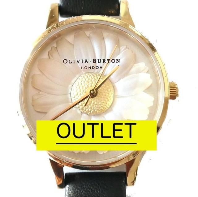 y[k06]OLIVIA BURTON 腕時計/OB15EG38ブラック×ゴールド 訳アリOLIVIA BURTON 腕時計/OB15EG38ブラック×ゴールド 訳アリ