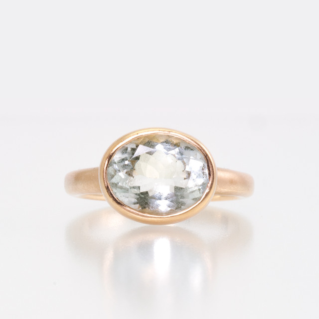 Aquamarine ring / Vermeil