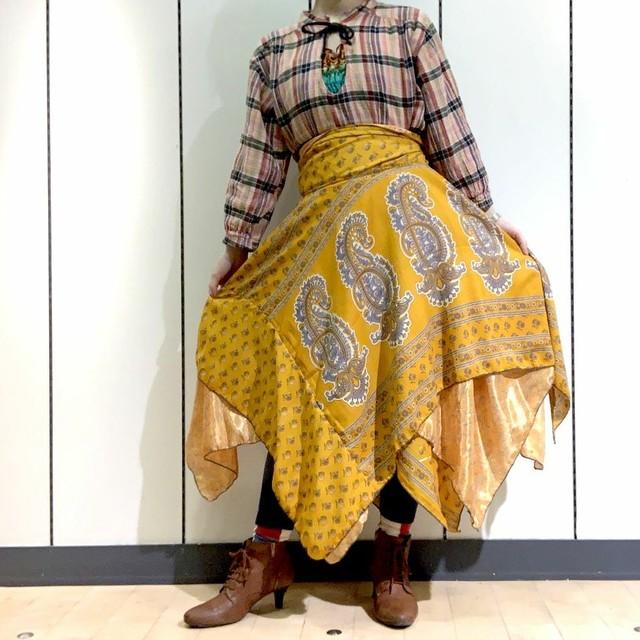 dsz-006 【新価格】シルクサリーギザスカート
