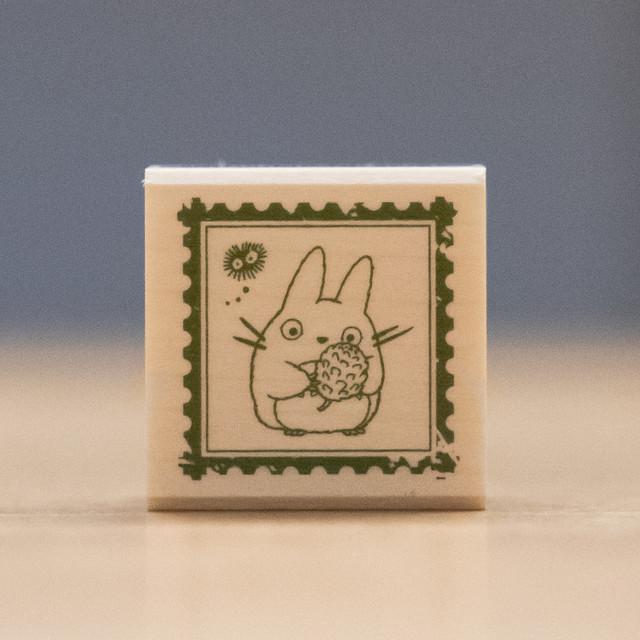 となりのトトロ 木製スタンプ 30×30(切手/7819)