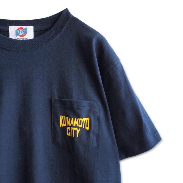 "【DARGO】""KUMAMOTO CITY"" Pocket T-shirt (NAVY)"