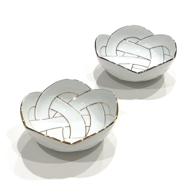 金線  銀線 梅結び 小鉢