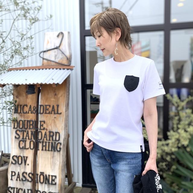 DOUBLE STANDARD CLOTHING (ダブルスタンダードクロージング ) シリコンワッペンTシャツ 02081710211