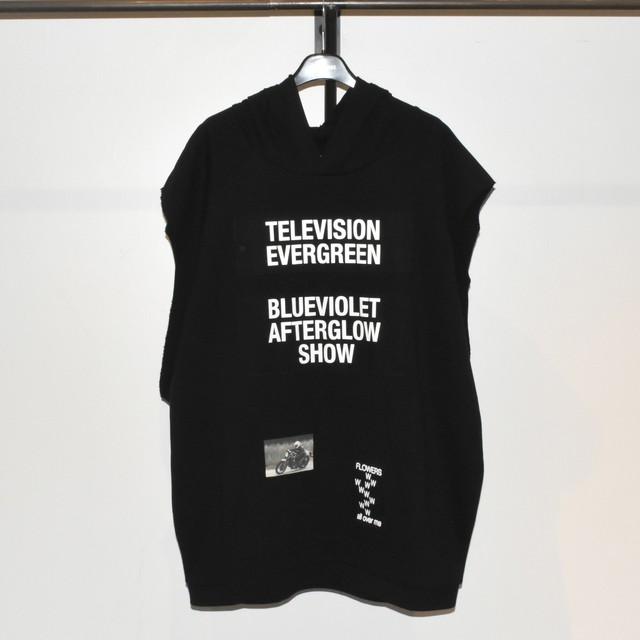 Raf Simons Sleeveless Hoodie Television Evergreen